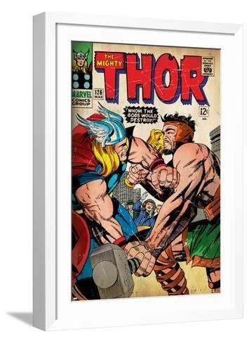 Marvel Comics Retro Style Guide: Thor, Hercules--Framed Art Print