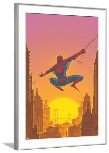 Spectacular Spider-Man No.27 Cover: Spider-Man Swinging-Mark Buckingham-Framed Art Print