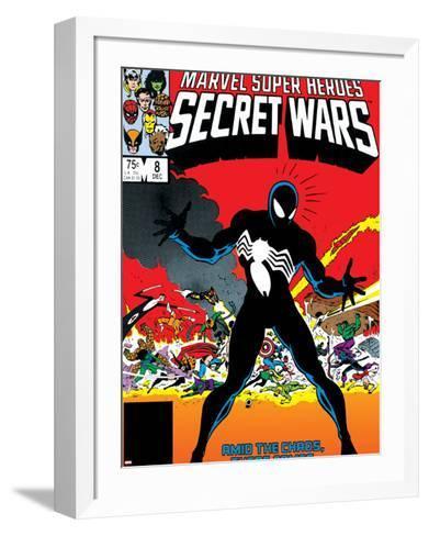 Venom & Hercules Cover: Spider-Man-Mike Zeck-Framed Art Print