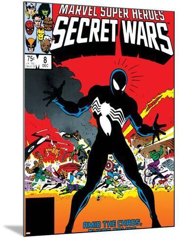 Venom & Hercules Cover: Spider-Man-Mike Zeck-Mounted Art Print