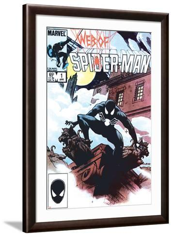 Web Of Spider-Man No.1 Cover: Spider-Man Crouching-Charles Vess-Framed Art Print