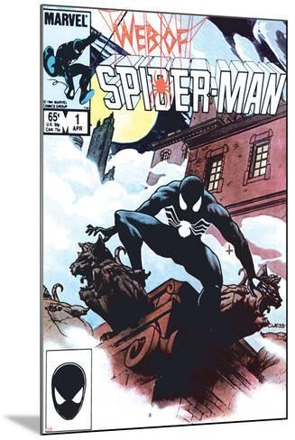 Web Of Spider-Man No.1 Cover: Spider-Man Crouching-Charles Vess-Mounted Art Print