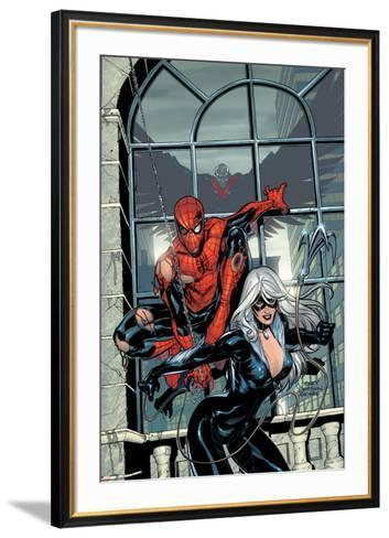 Marvel Knights Spider-Man No.4 Cover: Spider-Man and Black Cat-Terry Dodson-Framed Art Print