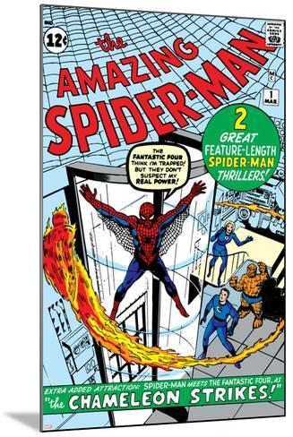 Amazing Spider-Man No.1 Cover: Spider-Man-Steve Ditko-Mounted Art Print