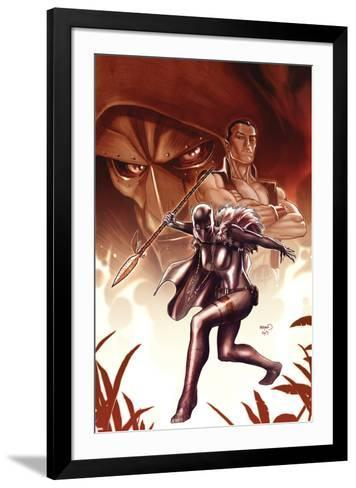 Black Panther No.8 Cover: Black Panther-Paul Renaud-Framed Art Print