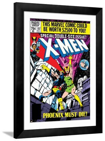 X-Men No.137 Cover: Cyclops, Grey and Jean-John Byrne-Framed Art Print