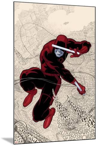 Daredevil No.1 Cover: Daredevl Jumping amidst Sounds-Paolo Rivera-Mounted Art Print