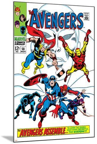 Giant-Size Avengers No.1 Cover: Thor, Iron Man, Captain America and Black Panther-John Buscema-Mounted Art Print