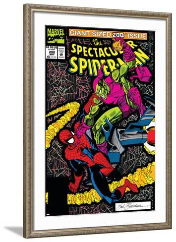 Spectacular Spider-Man No.200 Cover: Spider-Man and Green Goblin-Sal Buscema-Framed Art Print