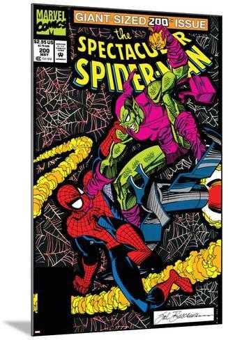 Spectacular Spider-Man No.200 Cover: Spider-Man and Green Goblin-Sal Buscema-Mounted Art Print