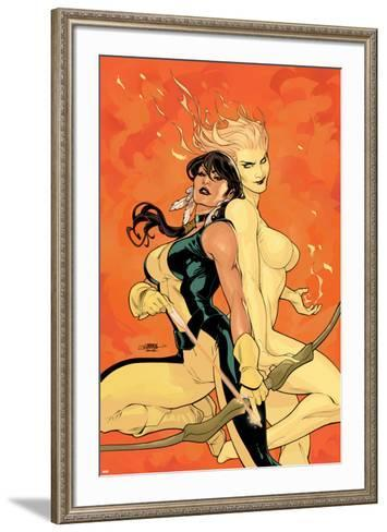 Young X-Men No.2 Cover: Magma and Moonstar-Terry Dodson-Framed Art Print