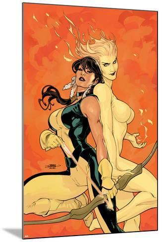 Young X-Men No.2 Cover: Magma and Moonstar-Terry Dodson-Mounted Art Print