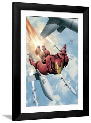 Invincible Iron Man No.3 Cover: Iron Man-Salvador Larroca-Framed Art Print