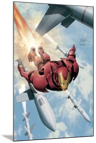 Invincible Iron Man No.3 Cover: Iron Man-Salvador Larroca-Mounted Art Print