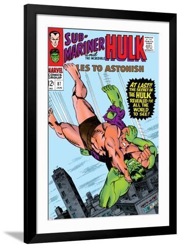 Tales to Astonish No.87 Cover: Hulk and Humanoid-Bill Everett-Framed Art Print