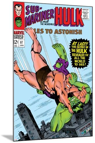 Tales to Astonish No.87 Cover: Hulk and Humanoid-Bill Everett-Mounted Art Print