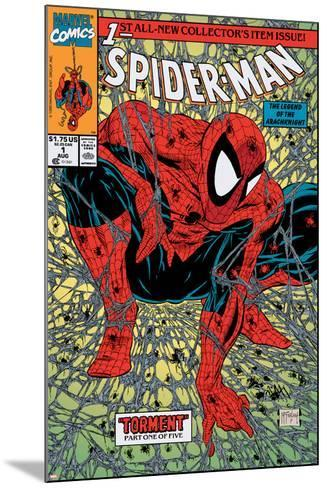 Spider-Man No.1 Cover: Spider-Man-Todd McFarlane-Mounted Art Print