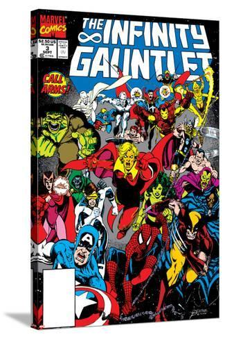 Infinity Gauntlet No.3 Cover: Adam Warlock-George Perez-Stretched Canvas Print