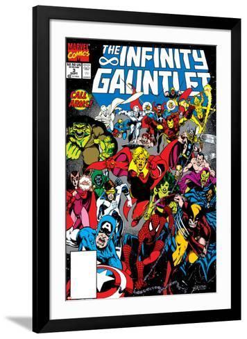 Infinity Gauntlet No.3 Cover: Adam Warlock-George Perez-Framed Art Print