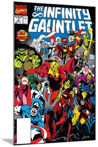 Infinity Gauntlet No.3 Cover: Adam Warlock-George Perez-Mounted Art Print