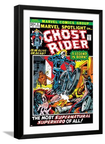 Marvel Spotlight Ghost Rider No.5 Cover: Ghost Rider-Mike Ploog-Framed Art Print
