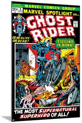 Marvel Spotlight Ghost Rider No.5 Cover: Ghost Rider-Mike Ploog-Mounted Art Print
