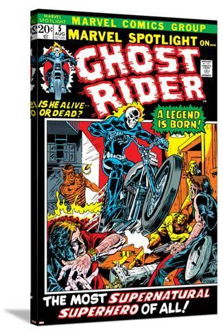 Marvel Spotlight Ghost Rider No.5 Cover: Ghost Rider-Mike Ploog-Stretched Canvas Print