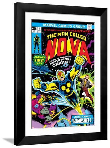 Nova: Origin Of Richard Rider - The Man Called Nova No.1 Cover: Nova-John Buscema-Framed Art Print