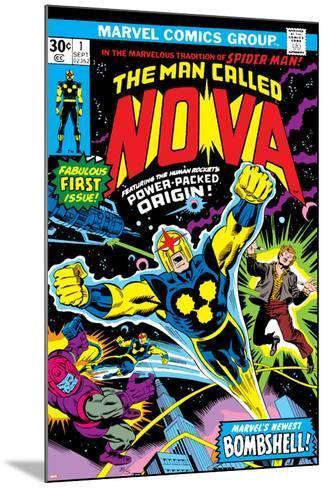 Nova: Origin Of Richard Rider - The Man Called Nova No.1 Cover: Nova-John Buscema-Mounted Art Print