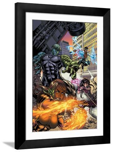 Secret Invasion: Runaways/Young Avengers No.1 Cover: Hulkling and Wiccan-Michael Ryan-Framed Art Print
