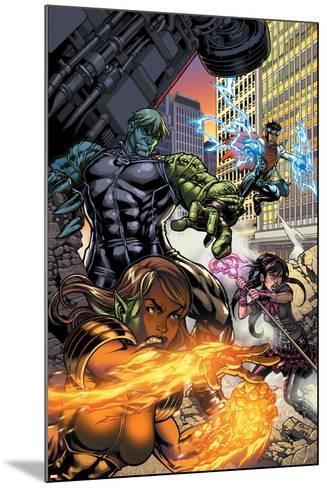 Secret Invasion: Runaways/Young Avengers No.1 Cover: Hulkling and Wiccan-Michael Ryan-Mounted Art Print