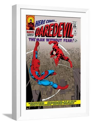 Daredevil No.16 Cover: Spider-Man and Daredevil Charging--Framed Art Print