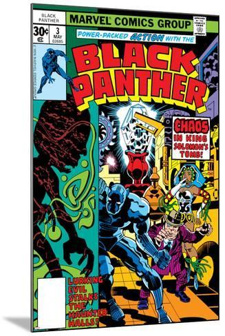 Black Panther No.3 Cover: Black Panther, Princess Zanda, Hatch-22, Little and Abner Charging-Jack Kirby-Mounted Art Print