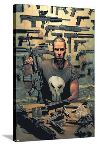 Punisher No.1 Cover: Punisher-Tim Bradstreet-Stretched Canvas Print