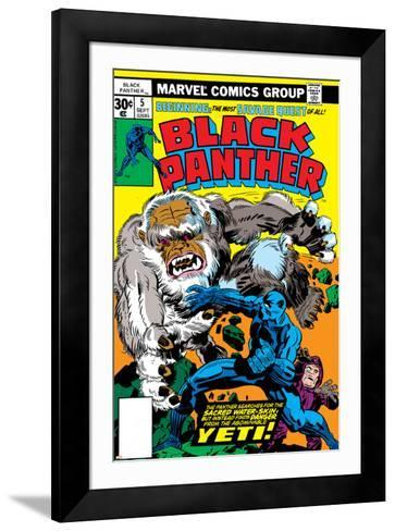 Black Panther No.5 Cover: Black Panther-Jack Kirby-Framed Art Print