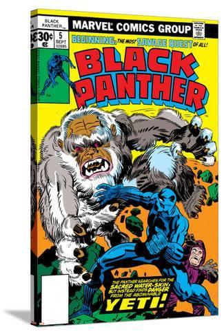 Black Panther No.5 Cover: Black Panther-Jack Kirby-Stretched Canvas Print