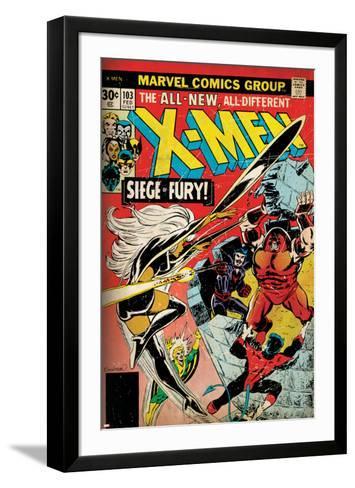 Marvel Comics Retro: The X-Men Comic Book Cover No.103 with Storm, Nightcrawler, Banshee(aged)--Framed Art Print