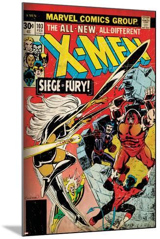 Marvel Comics Retro: The X-Men Comic Book Cover No.103 with Storm, Nightcrawler, Banshee(aged)--Mounted Art Print