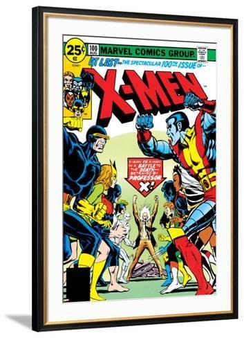 Marvel Comics Retro: The X-Men Comic Book Cover No.100, Professor X--Framed Art Print