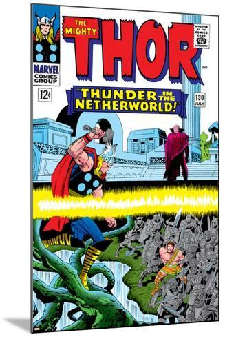Marvel Comics Retro: The Mighty Thor Comic Book Cover No.130, Thunder in the Netherworld, Hercules--Mounted Art Print
