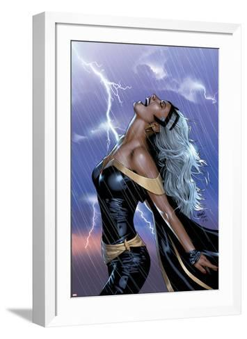Uncanny X-Men No.449 Cover: Storm Swinging-Greg Land-Framed Art Print