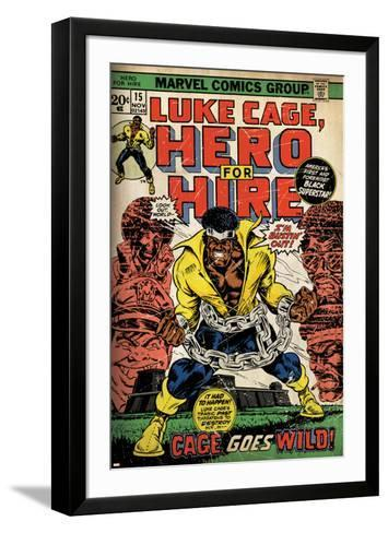 Marvel Comics Retro: Luke Cage, Hero for Hire Comic Book Cover No.15, in Chains (aged)--Framed Art Print