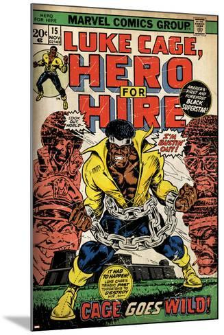 Marvel Comics Retro: Luke Cage, Hero for Hire Comic Book Cover No.15, in Chains (aged)--Mounted Art Print