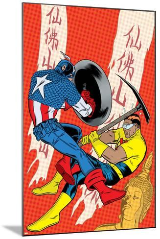 X-Statix No.22 Cover: Captain America and The Anarchist Fighting and Shooting-Michael Allred-Mounted Art Print