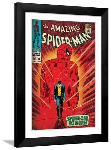 Marvel Comics Retro: The Amazing Spider-Man Comic Book Cover No.50, Spider-Man No More! (aged)--Framed Art Print