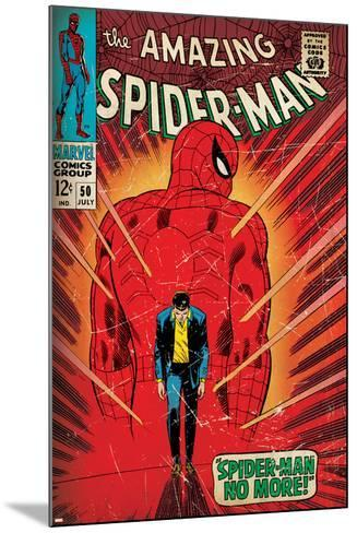 Marvel Comics Retro: The Amazing Spider-Man Comic Book Cover No.50, Spider-Man No More! (aged)--Mounted Art Print