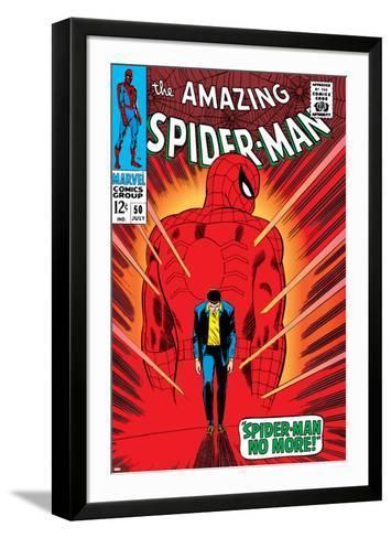 Marvel Comics Retro: The Amazing Spider-Man Comic Book Cover No.50, Spider-Man No More!--Framed Art Print