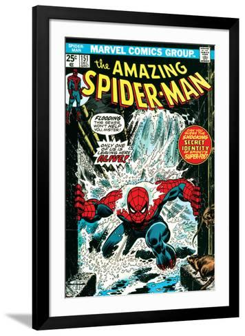 Marvel Comics Retro: The Amazing Spider-Man Comic Book Cover No.151, Flooding--Framed Art Print