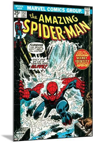 Marvel Comics Retro: The Amazing Spider-Man Comic Book Cover No.151, Flooding--Mounted Art Print
