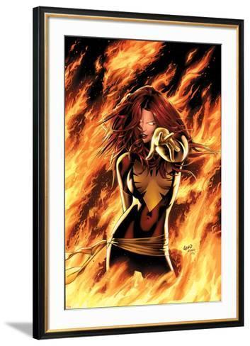 X-Men: Phoenix - Endsong No.1 Cover: Phoenix, Grey and Jean-Greg Land-Framed Art Print
